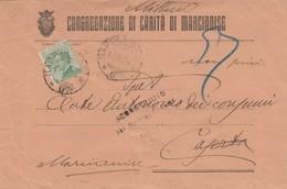 1926. Annullo Ambulante NAPOLI - BARI * D *, Su Lettera Intestata CONGREGAZIONE DI CARITA' DI MARCIANISE - Storia Postale