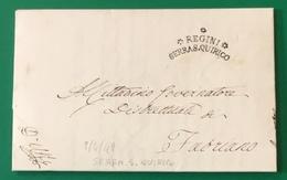 1849  SERRASANQUIRICO REPUBBLICA ROMANA PER FABRIANO - 1. ...-1850 Prefilatelia