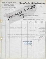 68 - Bas-rhin - RANSPACH-WESSERLING - Facture HARTMANN - Fonderie - 1952 - REF 151C - 1900 – 1949
