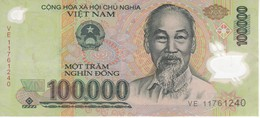 BILLETE DE VIETNAM DE 100000 DONG EN CALIDAD EBC (XF)    (BANKNOTE) POLIMERO - Vietnam