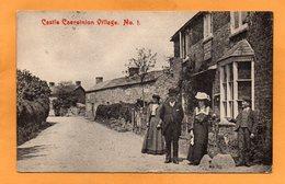Castle Caereinion Village 1911 Postcard - Caernarvonshire