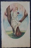 Illustrateur: Ambart - Femme Dans Un Arbre - 2 Scans. - Illustrateurs & Photographes
