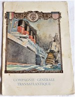 Menu Paquebot Lafayette, 1915, Compagnie Générale Transatlantique - Menus