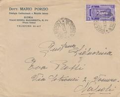 1933. Annullo Ambulante ROMA NAPOLI TURNO 30,  Su Lettera Affrancata Con Anno Santo C.50 - Marcofilía