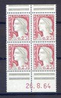 VARIÉTÉ....N° 1263.............bloc De 4 Coin Daté - Curiosities: 1921-30 Used