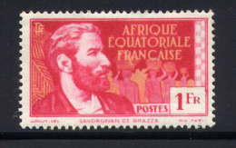 AEF  - 52** - PIERRE SAVORGNAN DE BRAZZA - Unused Stamps
