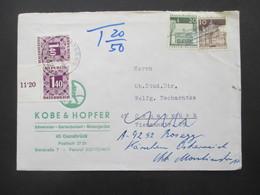BRD Brief Nach Osnabrück Und Weitergeleitet Nach Österreich Und Portomarke Nr. 250 Seitenrand / VL (Symbolzahl) - Covers & Documents