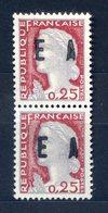 VARIÉTÉ....N° 1263....MARIANNE DE DECARIS........paire Verticale Surcharge EA - Curiosities: 1921-30 Used