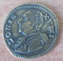"""Jeton De Nuremberg - Louis XVI - Etoile à 8 Branches - Vers 1790 - Fauté De Frappe : """"Louis XVMI"""" - Royaux/De Noblesse"""