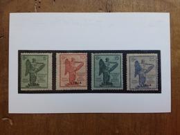 COLONIE ITALIANE - LIBIA - Vittoria Nn. 34/37 Nuovo * (carta Ingiallita) + Spese Postali - Libya