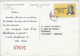 CARTE LIBERIA PUB MEDICALE IONYL - Liberia