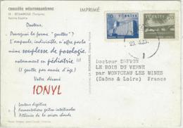 CARTE TURQUIE PUB MEDICANE IONYL - 1921-... Republiek