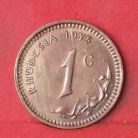 RHODESIA 1 CENT 1975 -    KM# 10 - (Nº35107) - Rhodésie