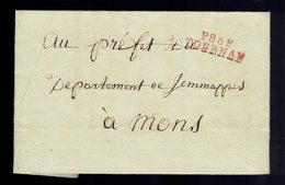 """Lac  En Port Payé De Griffe P86P / Tournai  """" 23 Ventôse An Onz """"=> Mons Écrite De Evregnies - 1794-1814 (Période Française)"""