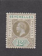 Seychelles 1912 12c  SG74  MH - Seychelles (...-1976)