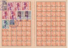 1962 LIBRETTO INPS CON VARIE MARCHE DA BOLLO - Vecchi Documenti