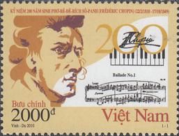 Vietnam 2010. Chopin. Michel 3542 MNH 27325 - Musique