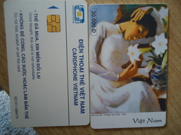VIETNAM  USED CARDS  PAINTING  WOMEN - Vietnam