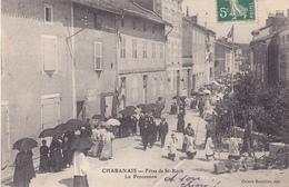 BAC19- CHABANAIS EN CHARENTE  FETES DE SAINT ROCH  LA PROCESSION  CPA  CIRCULEE RARE - Non Classés