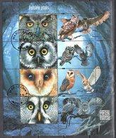 Poland  2015  Birds - Owls - Mi.ms 244 - Used - Blocks & Kleinbögen