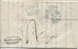 REF1106/ Précurseur LAC Daté De BXL 10/1/1839 C.BXL 12/Jan 1839 C.Après De Départ Encadré Port 4> Liège C.d'arrivée - 1830-1849 (Belgio Indipendente)