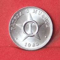 CUBA 1 CENTAVOS 1988 -    KM# 33,2 - (Nº35137) - Kuba