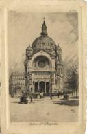 Gravure Paris Eglise St Augustin RV - Arrondissement: 08