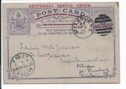 Fidschi-Inseln  K 1a - 1 1/2 D Eingeborenen Kanu Kartenbrief M. Rd In Suva 1897  O.T. Verwendet - Fiji (...-1970)