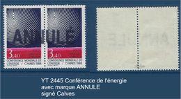 "FR Variété YT 2445 "" Energie "" Neuf**ANNULE Signé Calves - Variétés: 1980-89 Neufs"
