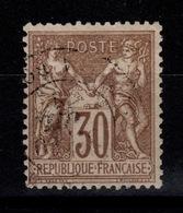 Sage Type I YV 69 Pas Aminci Oblitere Bien Centré Cote 10 Euros - 1876-1878 Sage (Type I)
