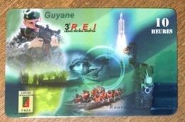GUYANE ARMÉE LÉGION ÉTRANGERE 3 REI CARTE PASSMAN 10H PAS TÉLÉCARTE PHONECARD - Guyana