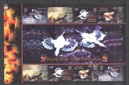D1362 2004 MALDIVES WWF FISH & MARINE LIFE DRACONIS #4407-10 1KB MNH - W.W.F.