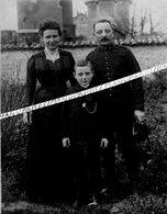 55 DOMBASLE EN ARGONNE / CARTE PHOTO / 1905 -1915 / MILITAIRE / GARE / 5e RÉGIMENT D' ARTILLERIE A PIED ( VERDUN ) ??? - France