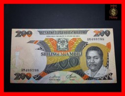 TANZANIA 200 Shilingi 1986 P. 18 A  VF - Tanzanie
