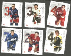 Sc. #2787a-f NHL Original Six Legindary Defensemen Set Used 2014 K392 - 1952-.... Règne D'Elizabeth II