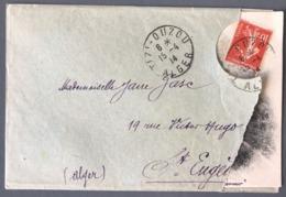 France - CPA Dans Enveloppe D'envoi - De TIZI-OUZOU à ST EUGENE (Algérie 1914) - (W1243) - Marcophilie (Lettres)