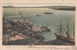 Vintage 1905-1910 - Québec Fleuve River - Boats Harbor Harbour Port - Undivided Back - Mailed In 1906 - 2 Scans - Québec - Les Rivières