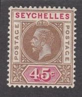 Seychelles 1912 45c  SG78  MH - Seychelles (...-1976)