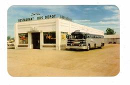 BLYTHE, California, USA, Tip Top Cafe & Greyhound Bus Depot, Old Bus, Old Chrome Petley Postcard - Etats-Unis