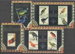 D1381 2011 MAYREAU FAUNA BIRDS OF PARADISE #119-26 MICHEL 28 EURO 2KB+2BL MNH - Other