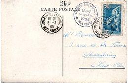 JOURNEE Du TIMBRE 1939 / 68 MULHOUSE = CACHET SPECIAL Sur CARTE POSTALE BOLLWERK + N° Yvert  419 - Journée Du Timbre