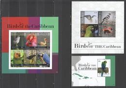 D1384 2011 MUSTIQUE GRENADINES OF ST. VINCENT BIRDS OF THE CARIBBEAN #179-88 !!! MICHEL 23.5 EURO !!! 2KB+1BL MNH - Oiseaux