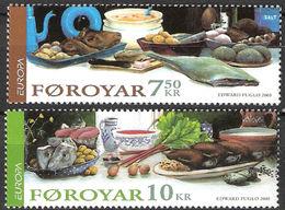 (!)  Timbre EUROPA CEPT De 2005  Thème La Gastronomie  FEROE  Y&T 524/525 Neuf(s) ** Mnh - 2005