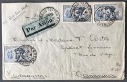 France N°297 (x3) Sur Lettre De Paris Pour Tananarive (Madagascar) Via Broken Hill 1935 - (W1250) - Marcophilie (Lettres)