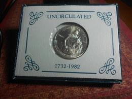USA   1982  -  SILVER  DOLLAR   WASHINGTON  COMMEMORATVE  COIN -  UNC - N. Commemorative