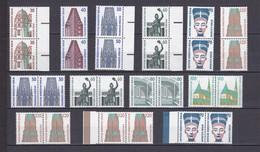 Berlin - 1987/90 - Freimarken : Sehenswürdigkeiten - W./S. Paare - Sammlung - Postfrisch - Neufs