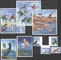 D1390 2000 MALDIVES BIRDS OF THE TROPICS #3479-500 MICHEL 70 EURO 3KB+2BL+1SET MNH - Oiseaux