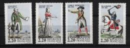 """FR YT 2592 à 2595 """" Personnages Célèbres De La Révolution """" 1989 Neuf** - Unused Stamps"""