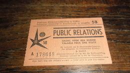 EXPO 1958   _____ BOX : B - Eintrittskarten