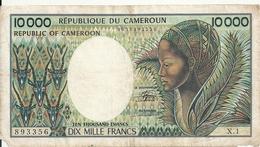 CAMEROUN 10000 FRANCS ND1984-90 VG P 23 - Kameroen